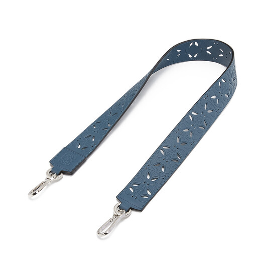 LOEWE Perforated Strap Steel Blue front