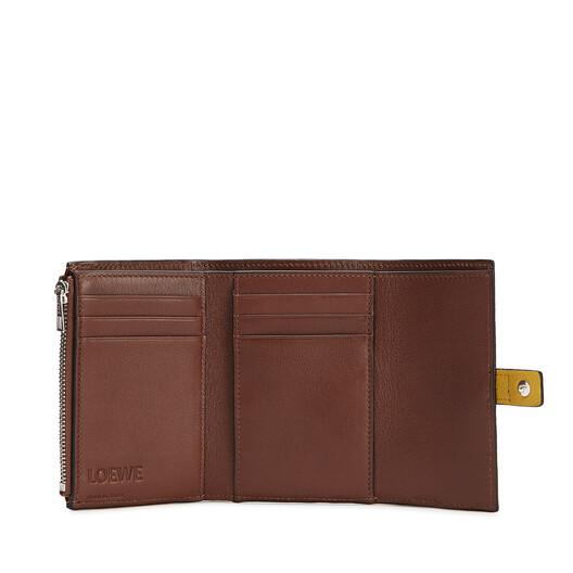 LOEWE Small Vertical Wallet Ochre/Steel Blue  front