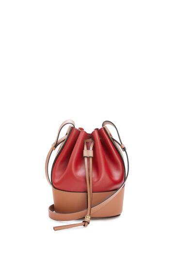 LOEWE Small Balloon bag in nappa calfskin Rouge/Tan pdp_rd