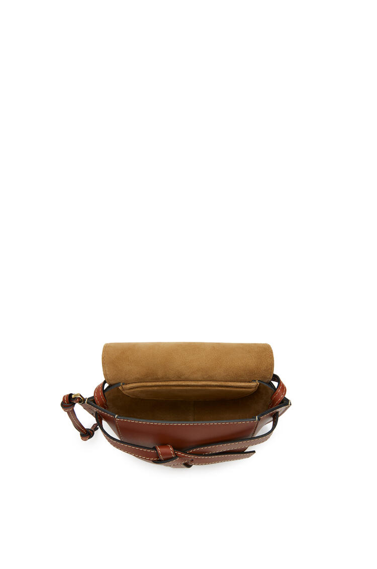 LOEWE Mini Gate bag in natural calfskin Rust Color pdp_rd