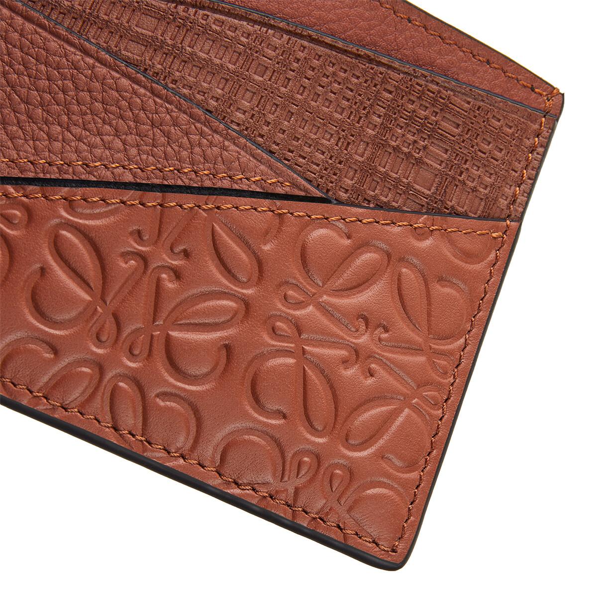 LOEWE Puzzle Plain Cardholder Cognac front