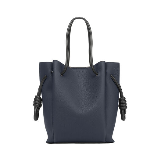 LOEWE Flamenco Knot Tote Small Midnight Blue/Black all