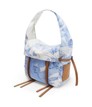 LOEWE Soft Messenger Faces Bag Soft Blue/Light Caramel front