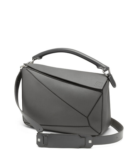 LOEWE Puzzle Large Bag Anthracite front