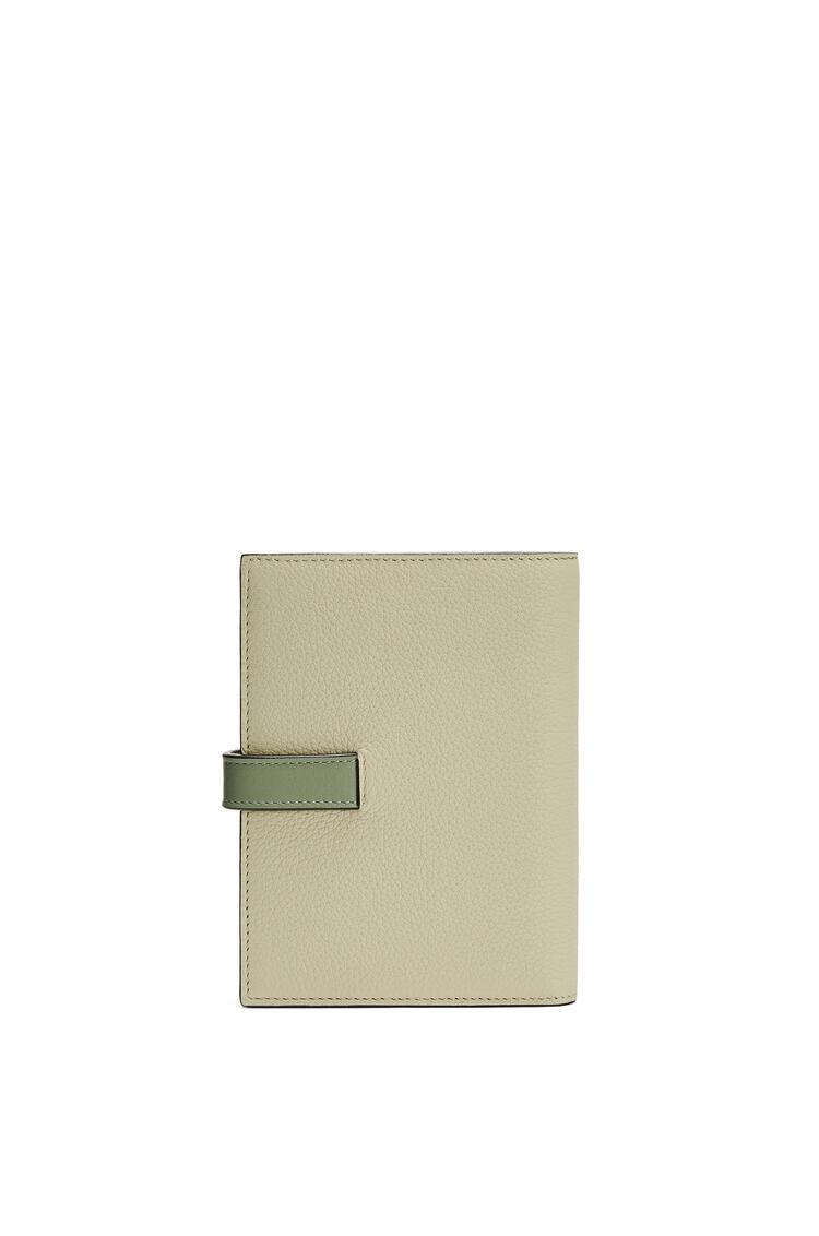 LOEWE Medium Vertical Wallet in soft grained calfskin Sage/Pale Green pdp_rd