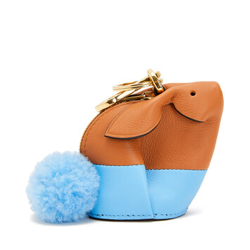 LOEWE Bunny Charm Tan/Sky Blue front