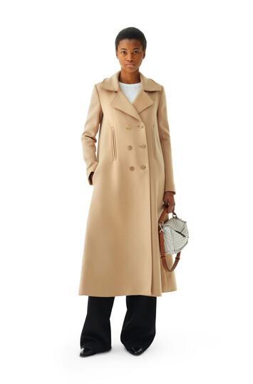 LOEWE Swing Coat Camel front