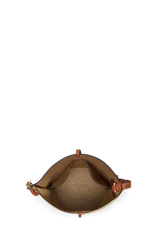 LOEWE Gate Bucket Espadrillas Bag 金色 front