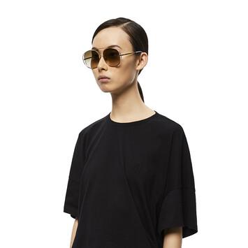 LOEWE Metal Round Sunglasses Sand front