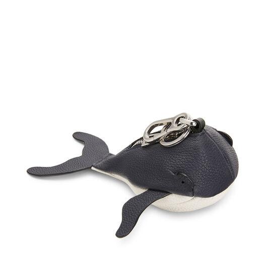LOEWE Whale Charm Paula Midnight Blue/White front
