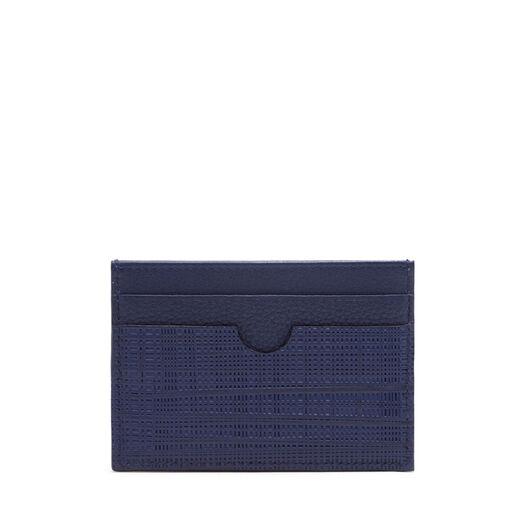 LOEWE Linen Plain Card Holder 海军蓝 front