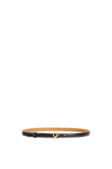 LOEWE Belt in smooth calfskin Black/Gold pdp_rd