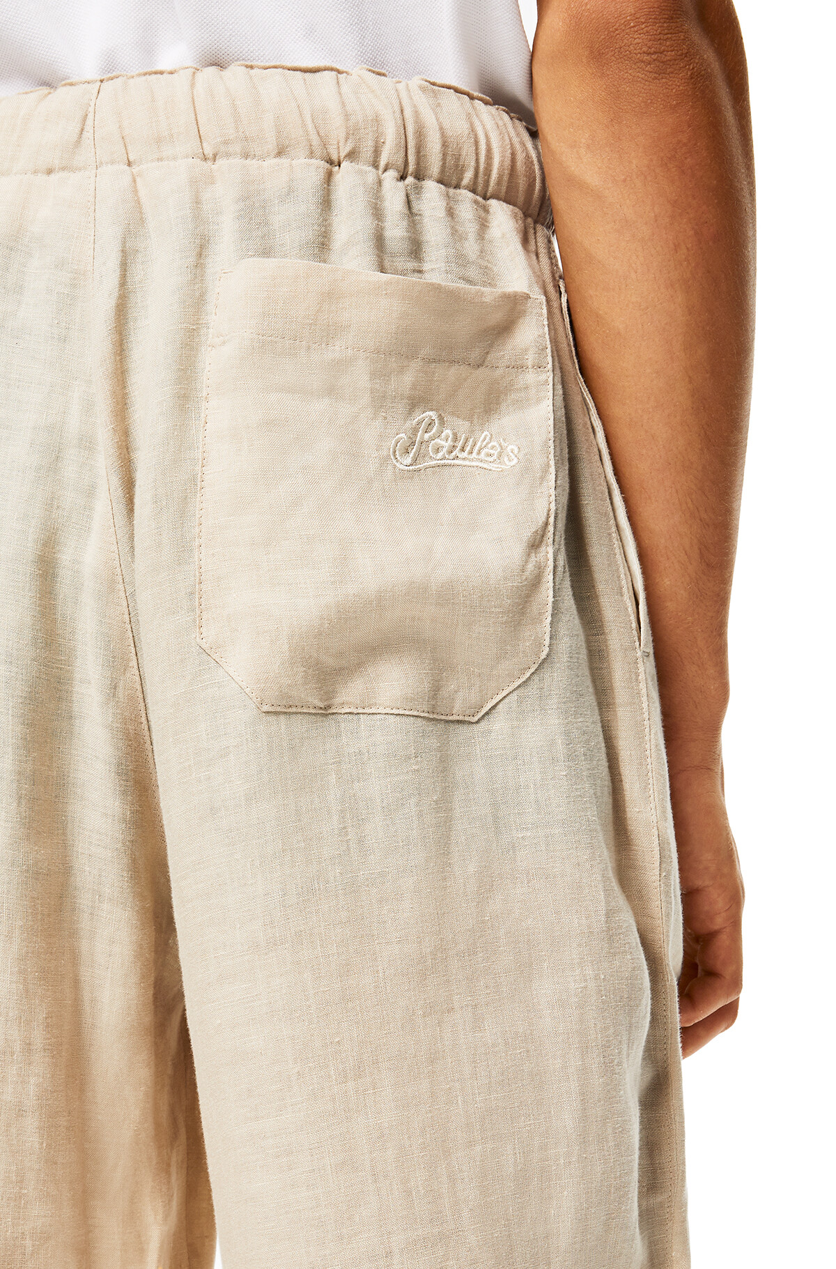 LOEWE Trousers In Linen Beige front