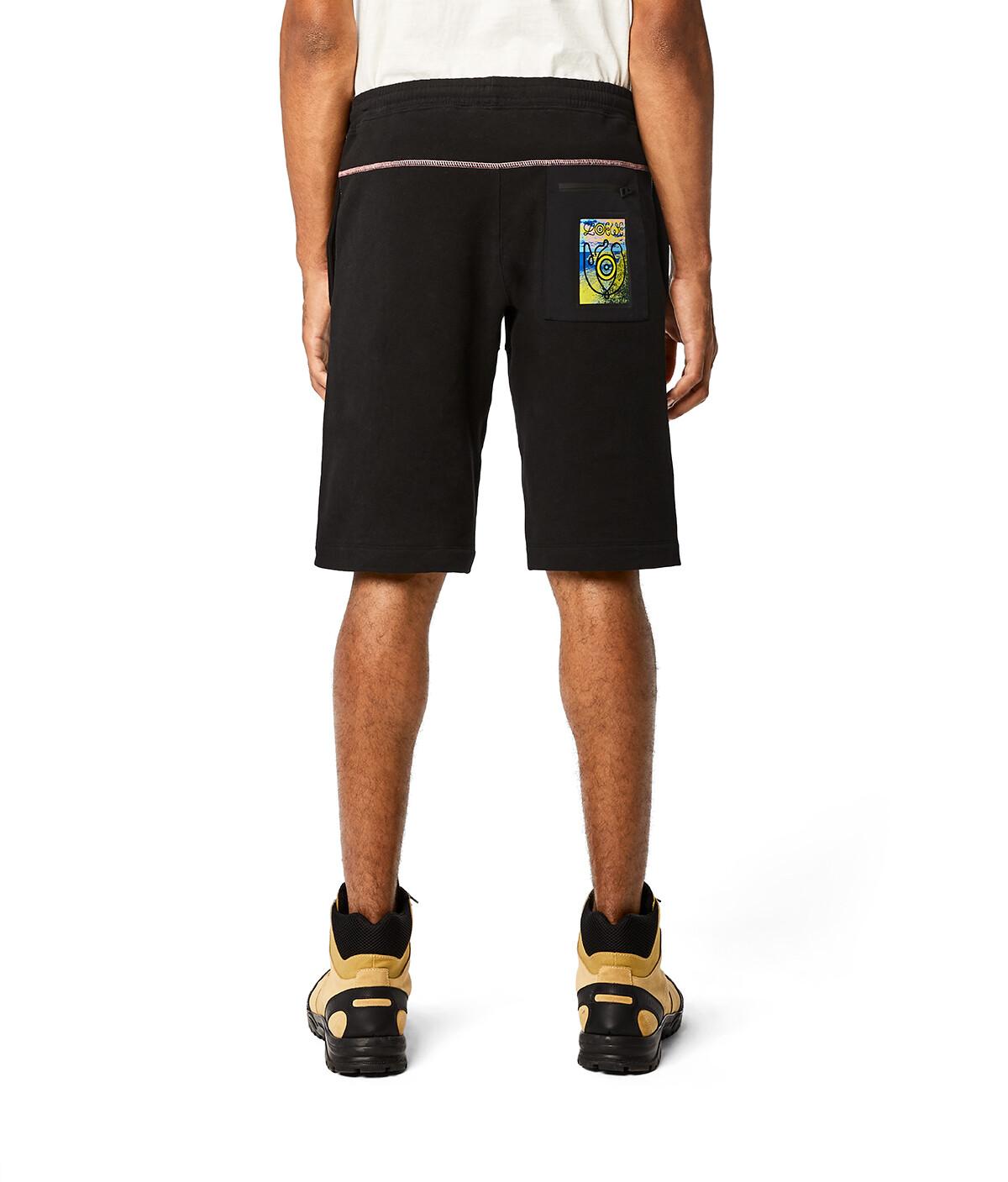 LOEWE Eln Fleece Shorts Negro front