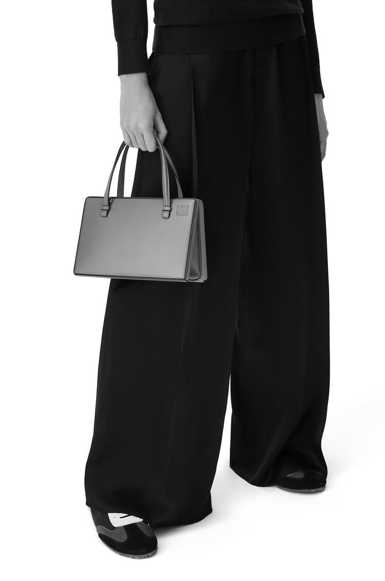 LOEWE Postal Cabochon Bag In Laminated Calfskin Silver pdp_rd
