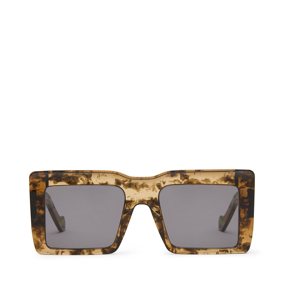 LOEWE Gafas Cuadradas Oversize Verde Kaki front