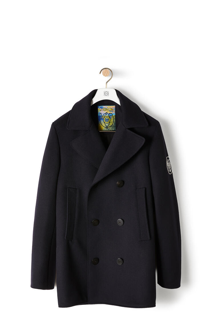 LOEWE Peacoat in wool and cashemere Navy Blue pdp_rd