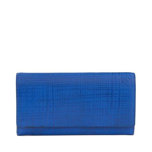 LOEWE Billetero Continental Linen Azul Electrico front