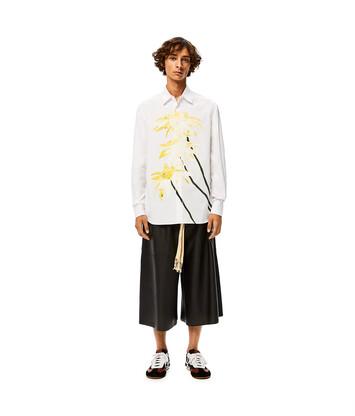 LOEWE Daisy Shirt Print Blanco front
