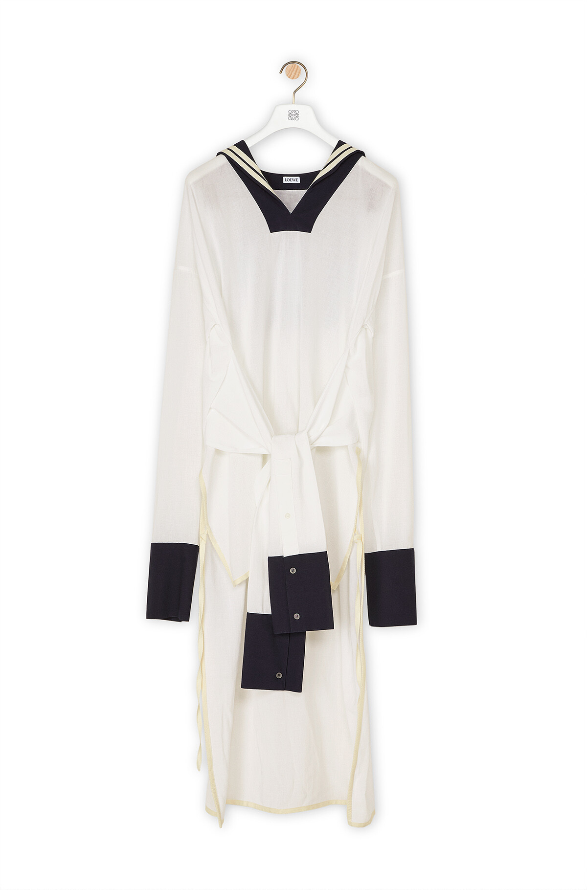 LOEWE Sailor Tunic White/Navy Blue front