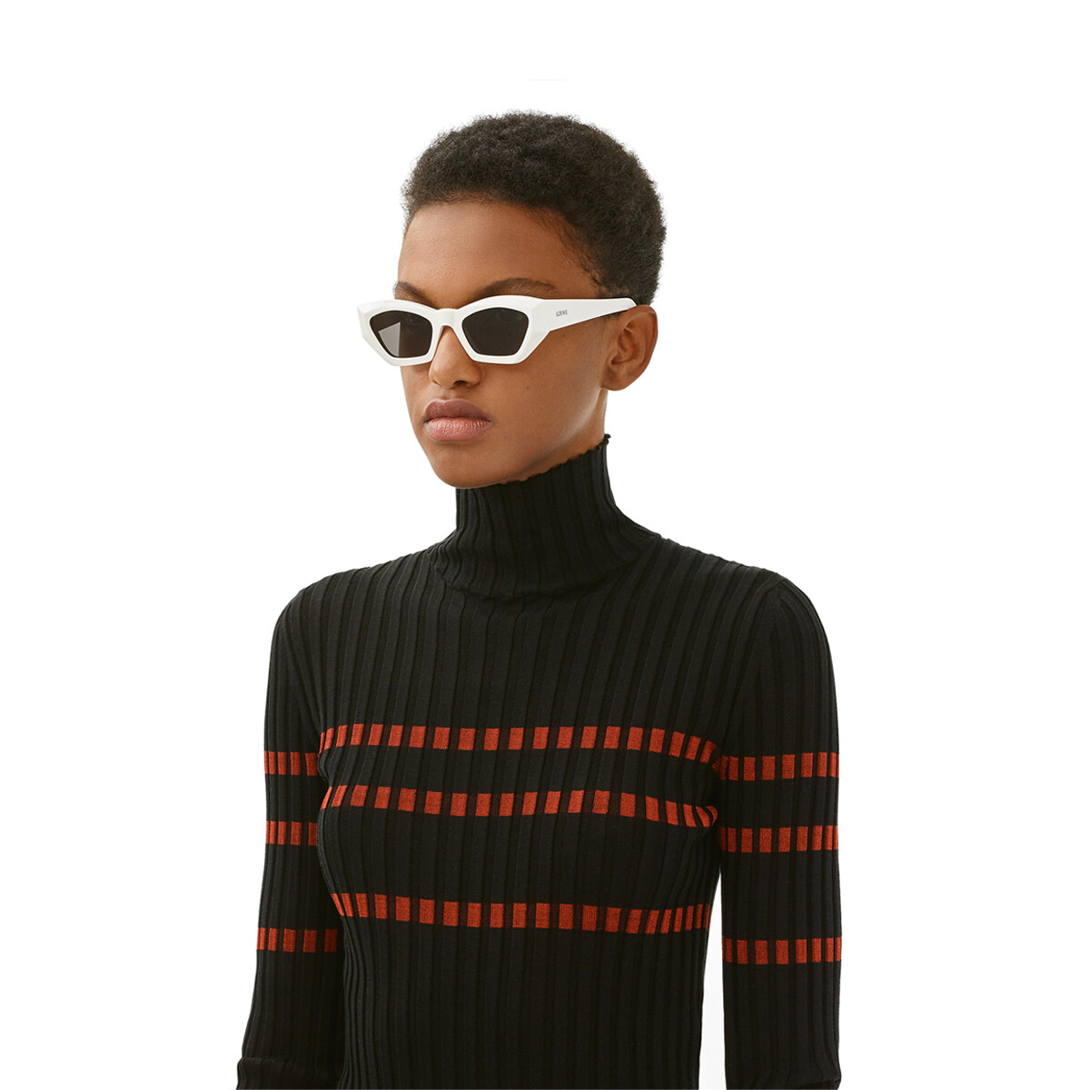 LOEWE Gafas Cateye Geométricas Blanco/Humo front