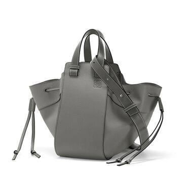 LOEWE Hammock Dw Medium Bag Gunmetal front