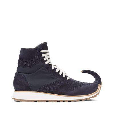 LOEWE High Top Sneaker Dinosaur Navy Blue front