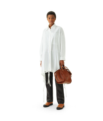 LOEWE Drawstring Shirtdress Blanco front