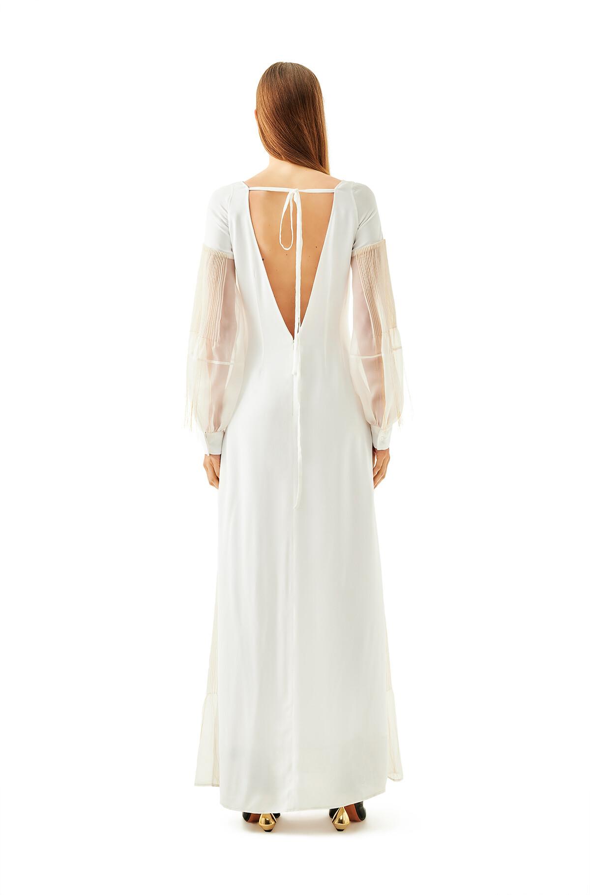 LOEWE Golden String Dress White front