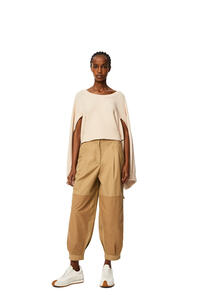 LOEWE Balloon trousers in cotton Sweet Caramel pdp_rd