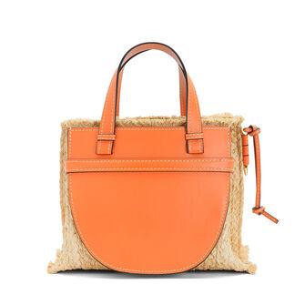 LOEWE Gate Top Handle Small Bag Orange/Natural front