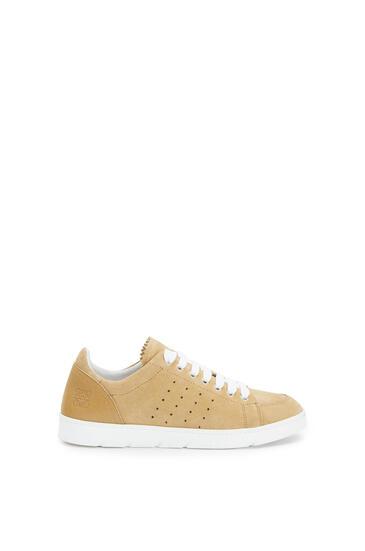LOEWE Soft sneaker in split calfskin Gold pdp_rd