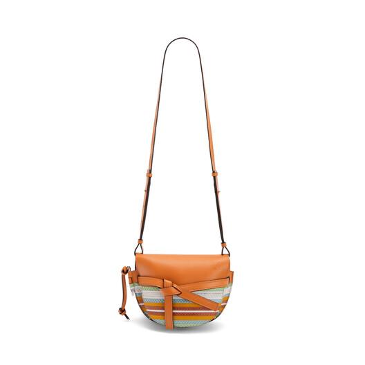 LOEWE Gate Marine Small Bag Honey/Multicolor front