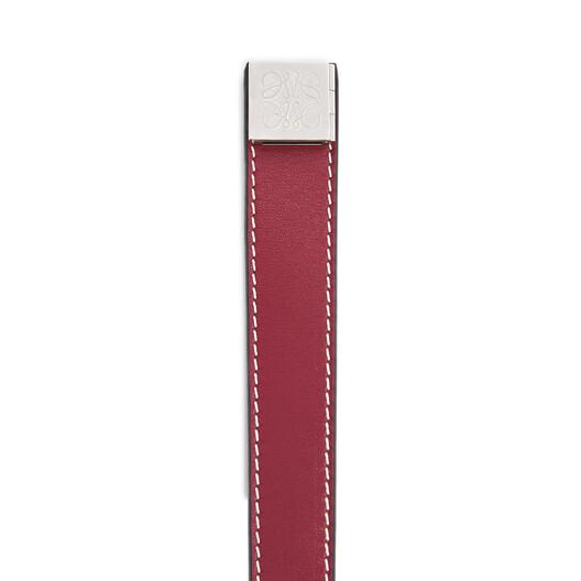 LOEWE Double Wrap Bracelet Wine front
