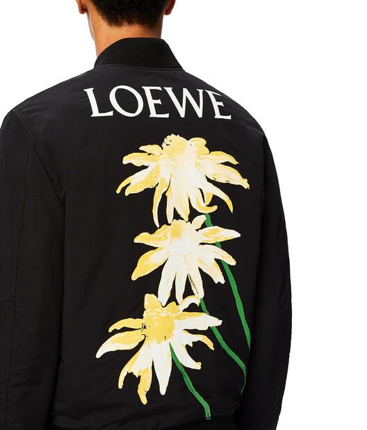 LOEWE Loewe Bomber Jacket Daisy Black front