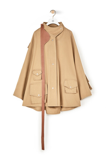 LOEWE Patched Pocket Military Parka Beige front