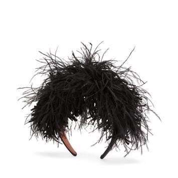LOEWE Feathers Headband ブラック front