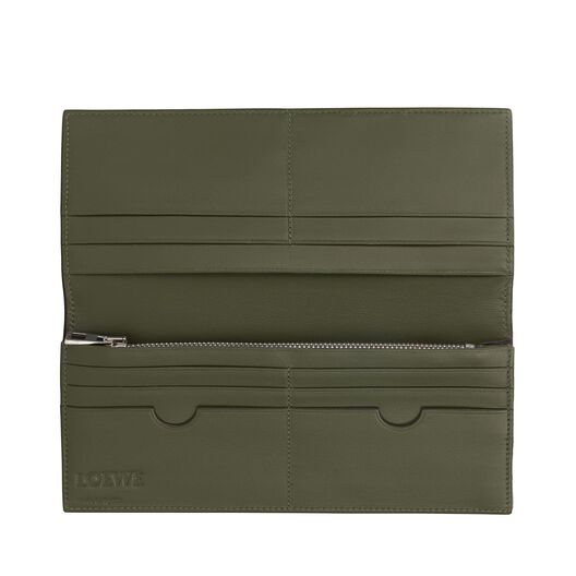 LOEWE Long Horizontal Wallet Black/Kakhi Green all