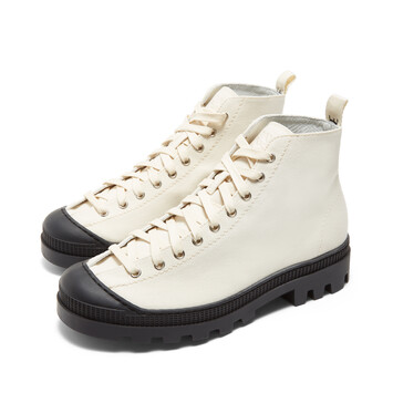 LOEWE Lace Up Boot Off-White front