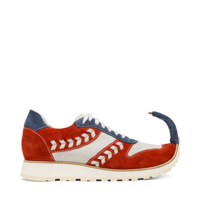LOEWE Sneaker Dinosaur Blue/Red/White front