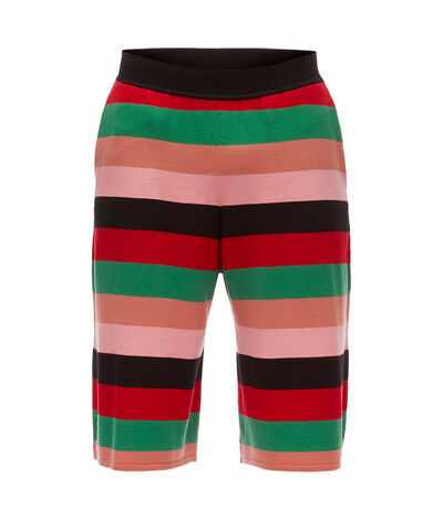 LOEWE Stripe Knit Shorts Red/Pink/Green front