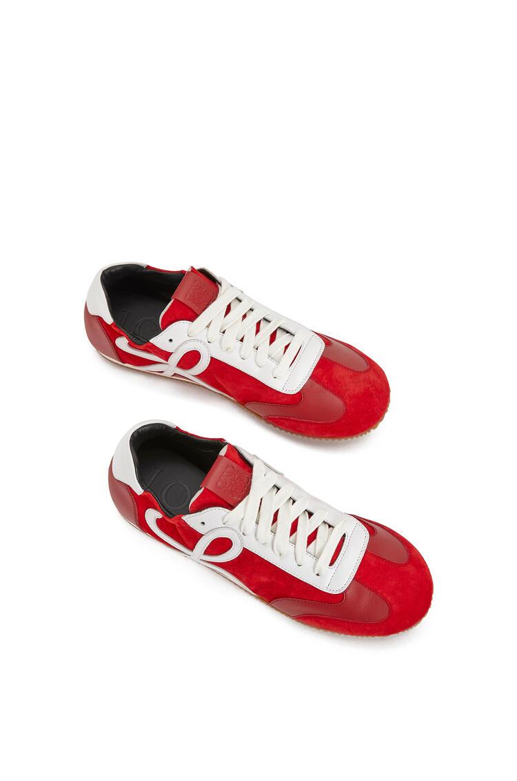LOEWE Ballet runner in suede kidskin Red/White pdp_rd