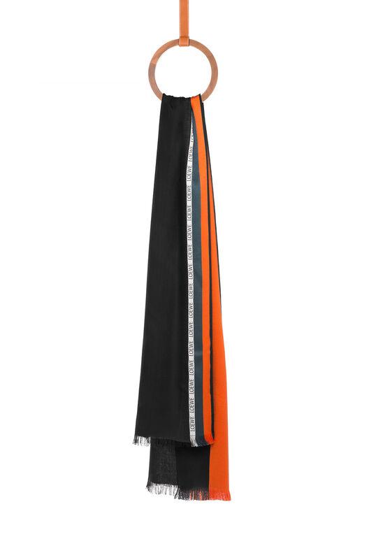 LOEWE 70X200スカーフストライプ オレンジ/ブラック front