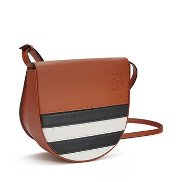 LOEWE Heel Marine Mini Bag Black/White front