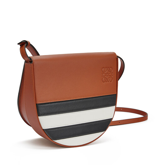 LOEWE Heel Marine Mini Bag Black/White front
