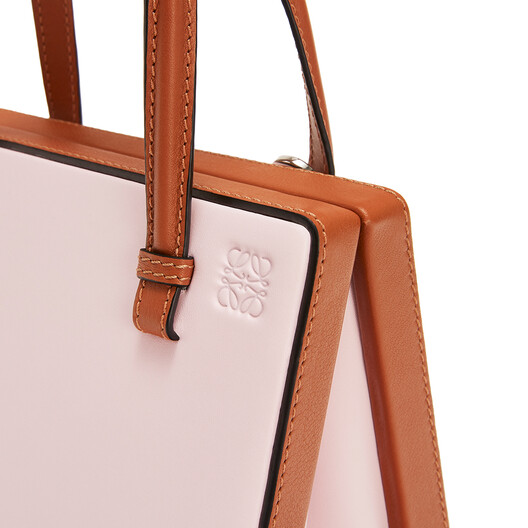 LOEWE Postal Small Bag Icy Pink/Tan front
