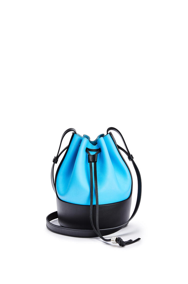 LOEWE Small Balloon bag in nappa calfskin Topaz Blue/Black pdp_rd