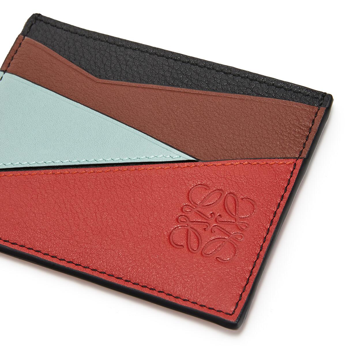 LOEWE Puzzle Plain Cardholder Pomodoro/Black front