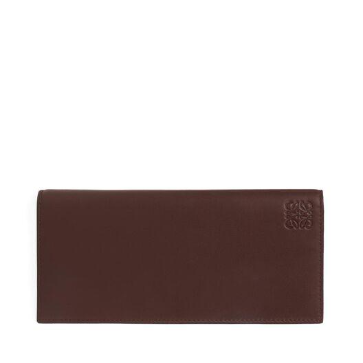 LOEWE Long Horizontal Wallet Chocolate/Burgundy all