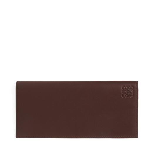 LOEWE Billetero Largo Horizontal Chocolate/Burdeos front